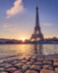Autumn in Paris. Eiffel Tower at sunrise