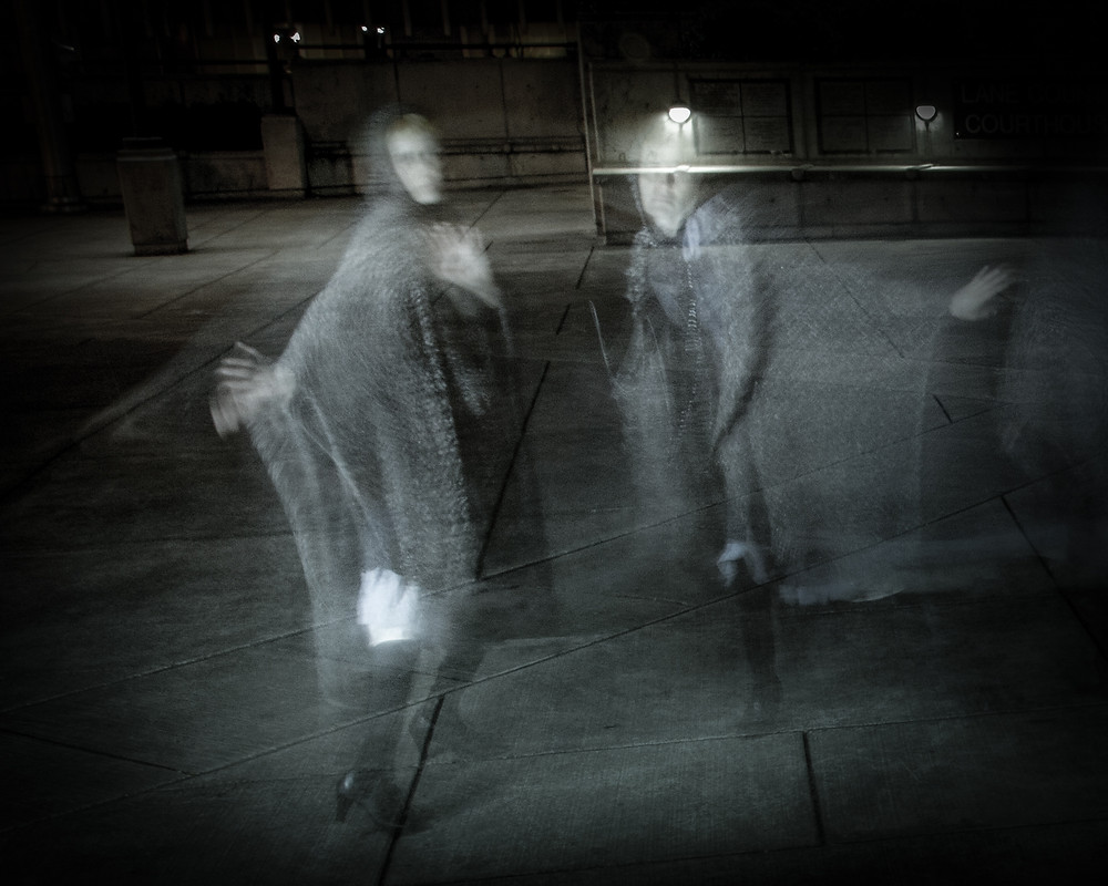 Ghosts in the public plaza