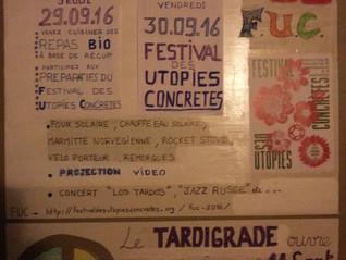Festival des Utopies Concrètes : Le Tardigrade participe et accueille le FUC