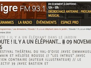 Ecoutez le collectif 39 sur Radio Aligre Fm 93.1 dans son émission ECOUTE ! IL Y A UN ÉLÉPHANT…du 09