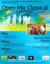 March 17th, 2019 / Featured Guest Four Hand Piano Noel & Elizabeth Tipton