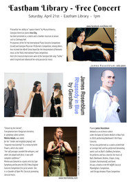 April 21st, 2018 / 1pm / Gershwin Rhapsody in Blue Lunchtime Concert @ Eastham Library