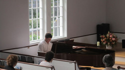 James Dellamorte on piano