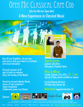Open Mic Classical Cape Cod (aka the mic-less open mic) /  Sunday, February 21st, 2016 @ 3pm