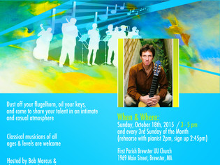 Open Mic Classical Cape Cod (aka the mic-less open mic) /  Sunday, October 18th, 2015 @ 3pm