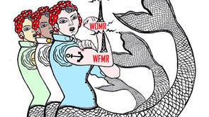Co-founder Monika Woods, and pianist Ana Glig on International Women's Day with WOMR Radio Host