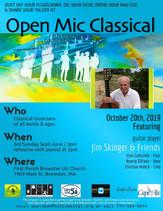 Oct 20th, 2019 / Guest guitar player Jim Skinger & Friends / UU Church Brewster 3pm