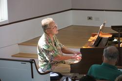 Arthur Dimond on piano