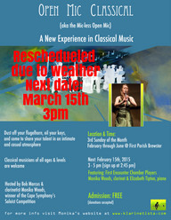 Open Mic Classical  (aka the mic-less open mic) - Cape Cod's First and Only Classical Music Open Mic