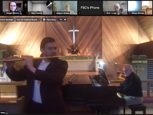 Healing Through Music - Report of Oct 17, 2021 with guest flutist Eric Maul and pianist John Thomas