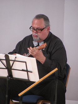George Anzivino on ukulele