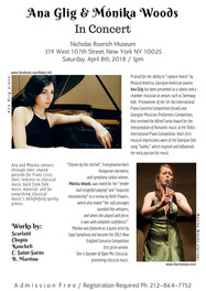 April 8, 2018 / 5pm / In Concert @ Roerich Museum, NY