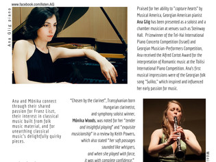 Ana Glig & Monika Woods In Concert at the Roerich Museum / April 8th, 5pm