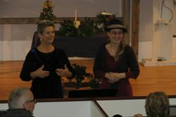 Hosts Ellen Adamson and Monika Woods