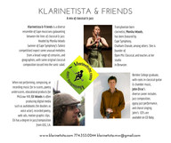 Klarinetista & Friends at the Brewster Cultural Council Literary Eve  / Oct 25, 2016, 7pm