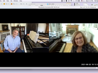 What a Great End to our 7th Season - Report of June 20th, 2021 with guest pianist Craig Combs