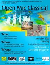 June 16th, 2019 / Guest flutist Carl Gutowski & pianist Alexandra Beliakovich / FBP UU 3pm