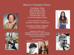 Marty's Chamber Music Party - Free Saturday, Oct 12, 2019 @ 2:00pm