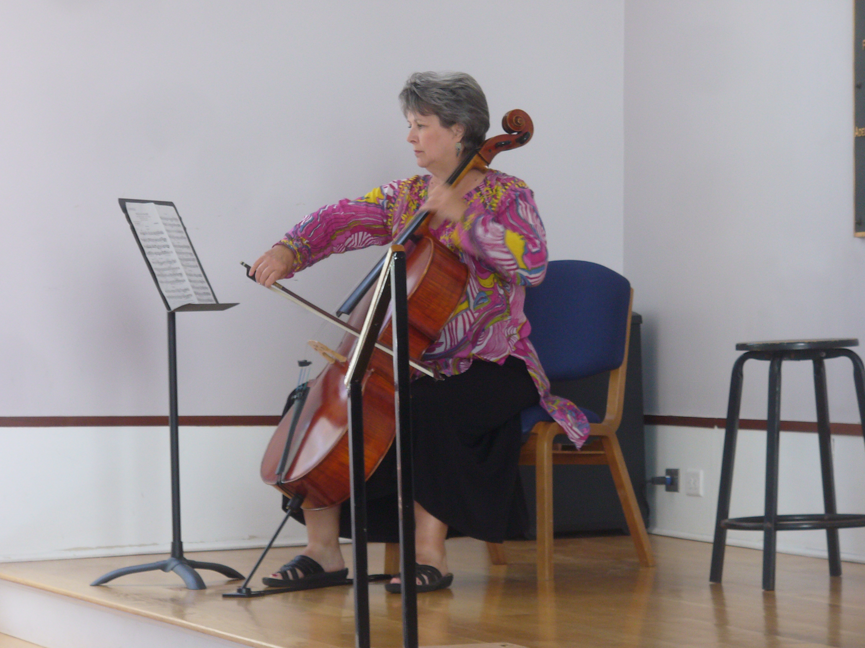 Cellist Lisa Adamson