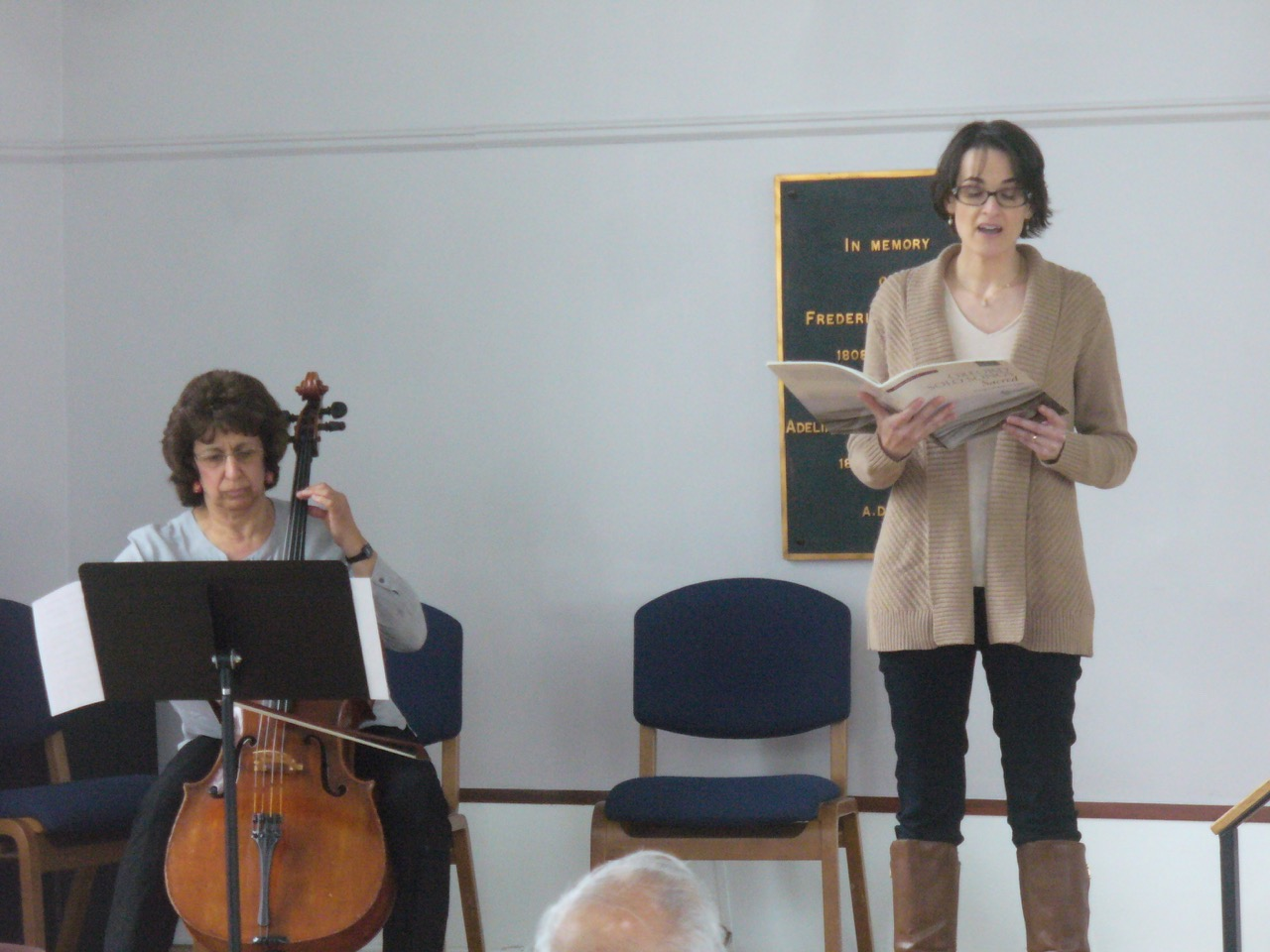 Laura Stowe singer, Judy Donn cello