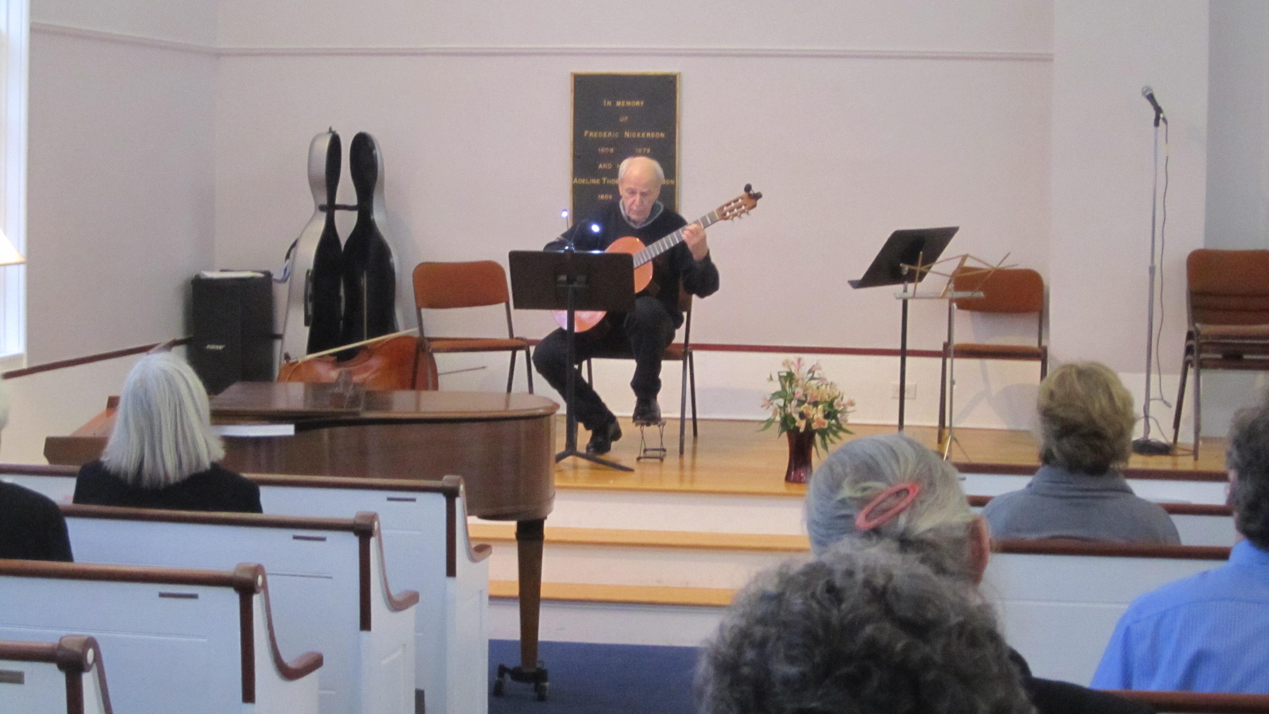 Jim Skinger on guitar