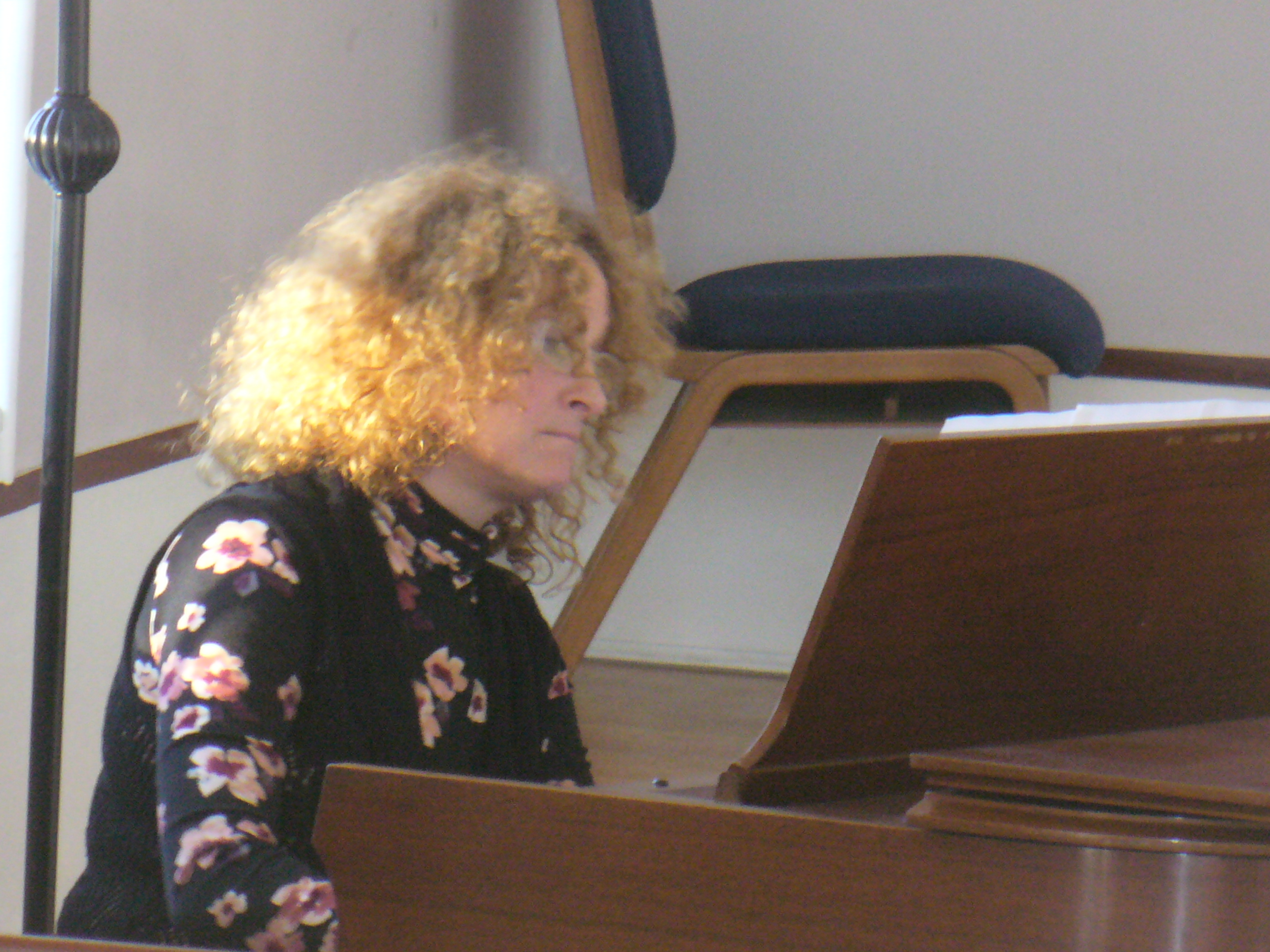 Lisa Gross on piano