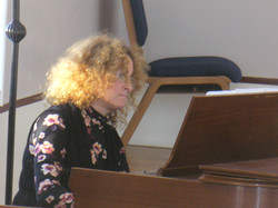 Lisa Gross on piano