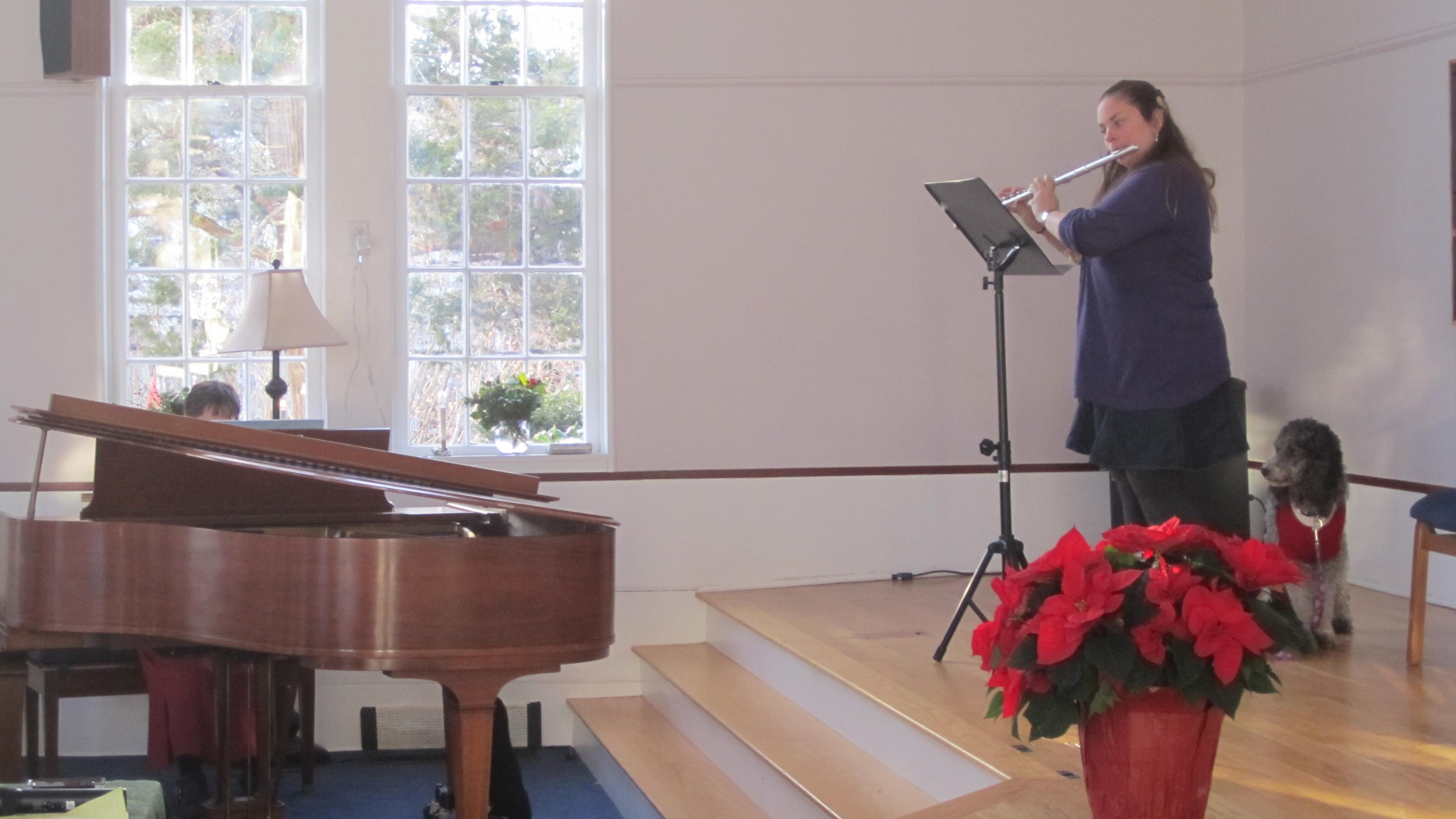 Kara Goldrick on flute