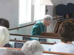 Betty Tipton on piano