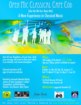 Open Mic Classical /  Sunday, November 20th, 2016 @ 3pm