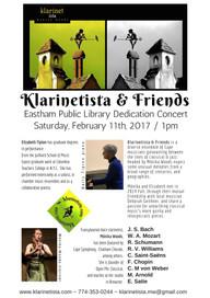 Eastham Library Dedication Concert - Klarinetista & Friends / Saturday, Feb 11th, 2017 / 1-2pm