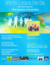 Open Mic Classical /  Sunday, April 17th, 2016 @ 3pm