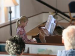 Zsoka Woods on piano