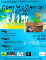 Dec 16th, 2018 / Featured Guest Pianist Jared McMurray