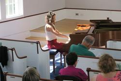 Ana Glig on piano