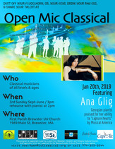 Jan 20th, 2019 / Featured Guest Pianist Ana Glig