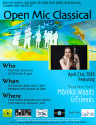 April 21, 2019 / 3pm / Open Mic Classical