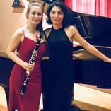 Calrinetist Monika Woods with pianist Ana Glig