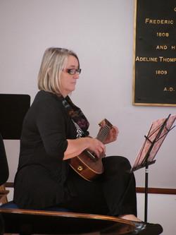 Kate Christian on ukulele