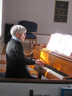 Elizabeth Tipton on piano
