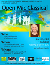 Nov 18th, 2018 / Featured Guest Violinist Martha Potter Kim