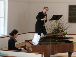 Clarinetist Monika Woods, and pianist Ana Glig at the 12th Annual Brewster Art Exhibit / March 10th,
