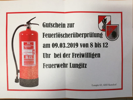 Feuerlöscher-Überprüfung
