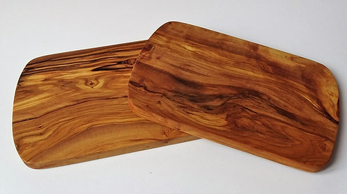 Rectangular board in olive wood