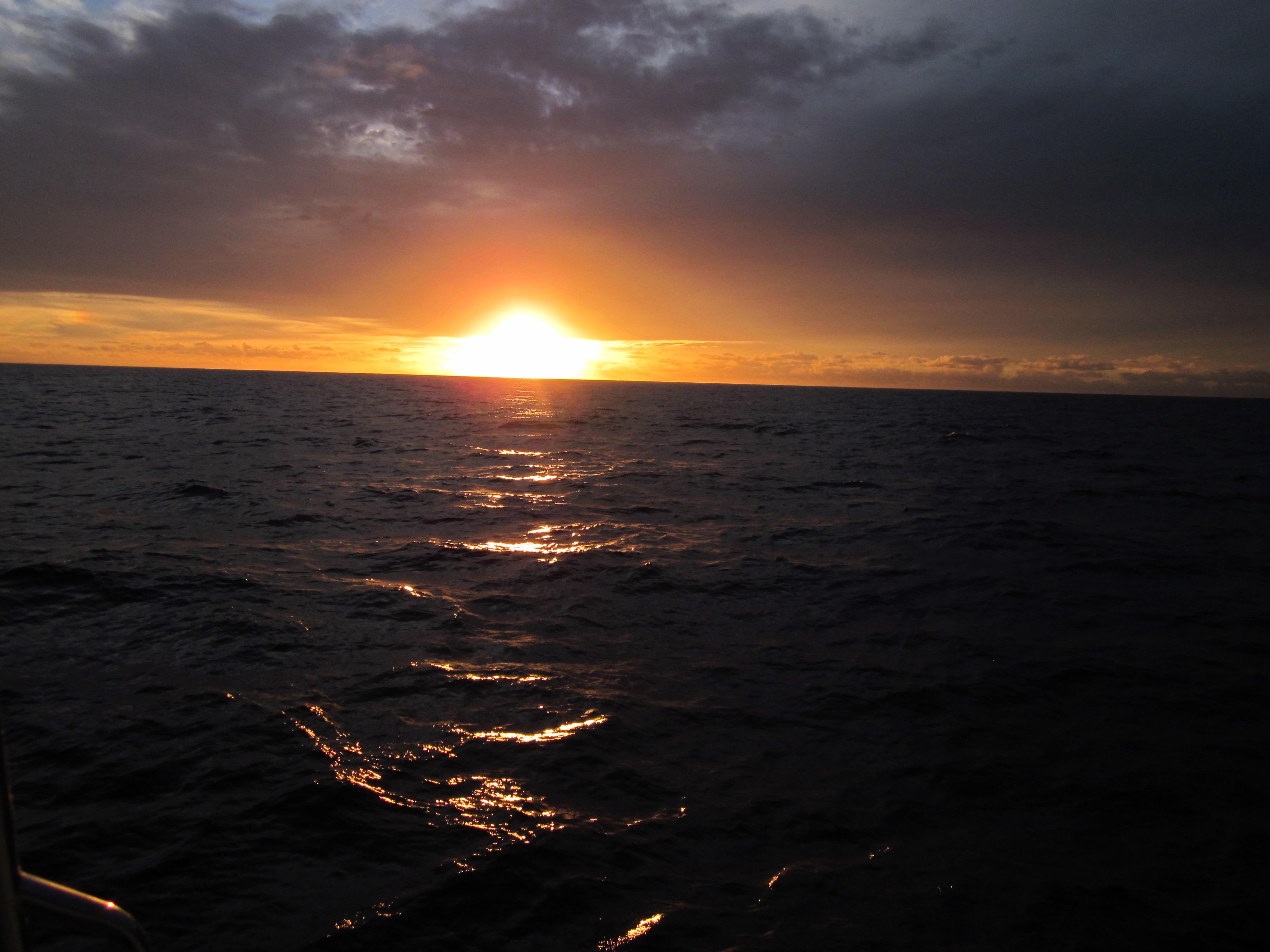 Champagne sunset sail