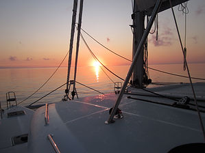 Vela puesta de sol