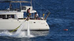 Catamaran and jetovator