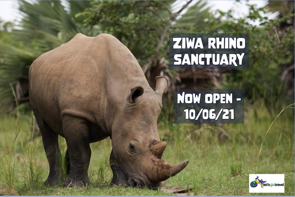 Ziwa Rhino Sanctuary Opening June 2021 (