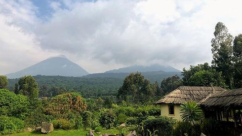 Uganda - Mount Muhabura and Mount Gahing