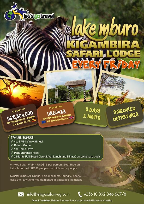 Scheduled Safari to Lake Mburo - Kigambi